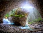 The Cave at Johnson Canyon, Banff, Alberta