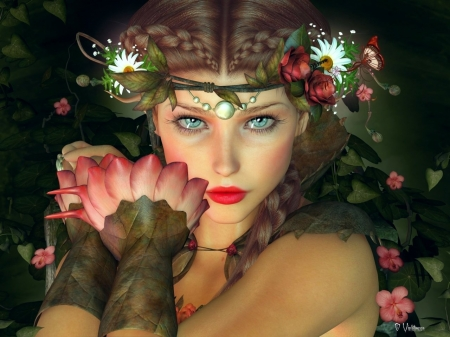 beautiful fantasy - flowers, fantasy, beautiful, gorgeous