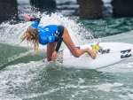 Girl Surfer on Malibu Beach