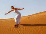 Sand Surfer ~ Caroline Wozniacki