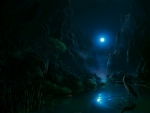 mountain fantasy landscape night