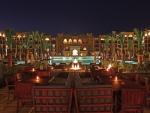 wonderful resort pool at night