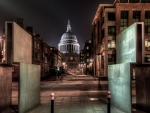 st pauls cathedral in a london night hdr