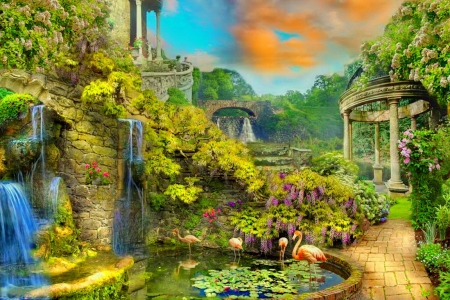 Fantasy Garden Other Abstract Background Wallpapers On