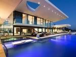 magnificent pool in a cliffside villa