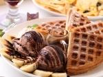 Waffels with Chocolate ice cream