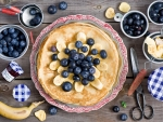 Blueberry and Banana Pancakes