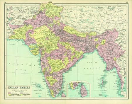 India - ancient, India, states, map