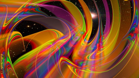 Stripes....The Final Frontier.... - Stars, Star Trek, space, multicolored, outer space, Stripes, Swirls, space travel