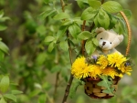 Summer decoration with teddy bear