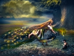 Girl in Fantasy Forest