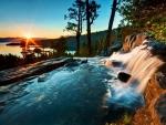 Waterfall at Lake Tahoe