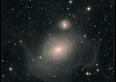 NGC 1316 After Galaxies Collide - stars, fun, cool, galaxies, space