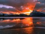Sunrise Over Mountains