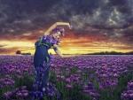 Beauty in Flower Field