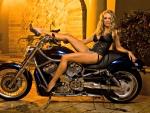 Shanna McLaughlin on a Harley Davidson