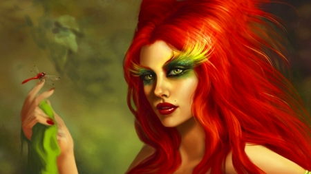Poison Ivy - pretty, art, female, beautiful, woman, poison ivy, fantasy, girl, digital