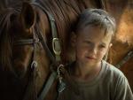 Cute little sad cowboy