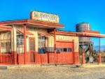 abandoned desert garage hdr