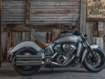 beautiful gray indian scout motorcycle