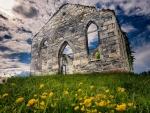 ruined church in rivire la guerre quebec canada