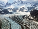 fantastic aerial view of glacier bay np alaska