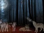 Wolf Pack Full Moon