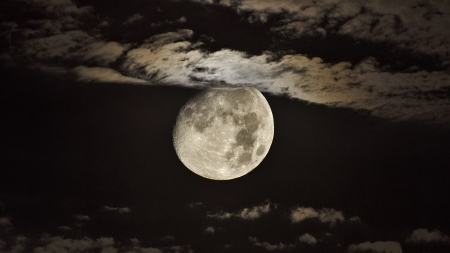 Midnight Moon F1 - photography, wide screen, moon, beautiful, photo, space
