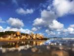 rocky beach in australia hdr