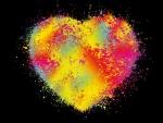 Fuzzy Neon Heart