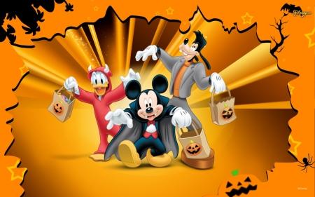 Fantasy Movie Orange Halloween Donald Duck Gooffy