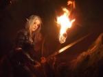 Warrior elf girl