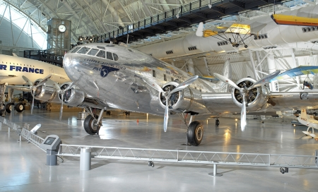 vintage boeing 307 stratoliner in museum - museum, commercial, plane, vintage