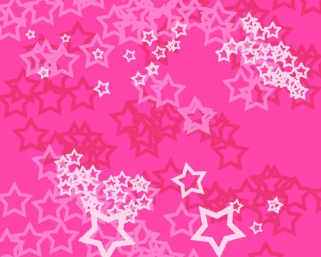 *Pink Stars* - pretty, stars, girly, white, pink, star