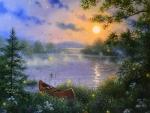 Moonlight of Lake