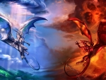 Ice Dragon vs Fire Dragon F