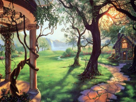 My Dream Garden - painting, dream garden, painted, garden
