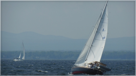 Lake Champlain Sailing - lake Champlain, water, sailing, lake, Sailboat