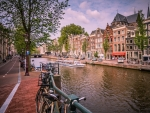 beautiful canal of amsterdam