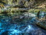 spectacular cavern pool in mexico hdr