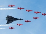 British Avro Vulcan with the Red Arrows