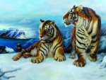 Snowy double tiger