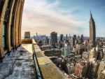 fantastic fisheye view of new york city hdr