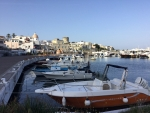 Boats in a row in Ischia Italy.