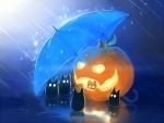 Rainy in Halloween