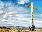 easter cross at whaefe valley england