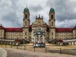 magnificent einsiedeln abbey in switzerland hdr