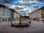 town square in estonia hdr
