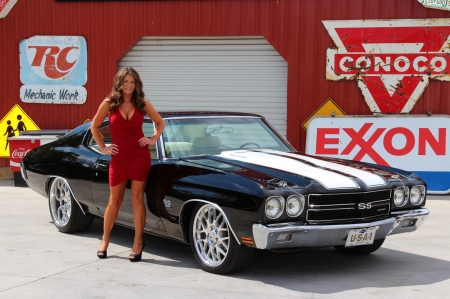 1970 Chevy Chevelle Ss Girls And Cars Cars Background