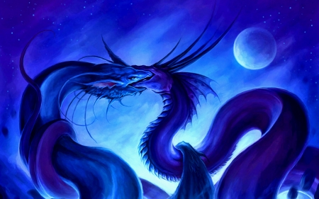 Mating Ritual - magic, fantasy, moon, dragon